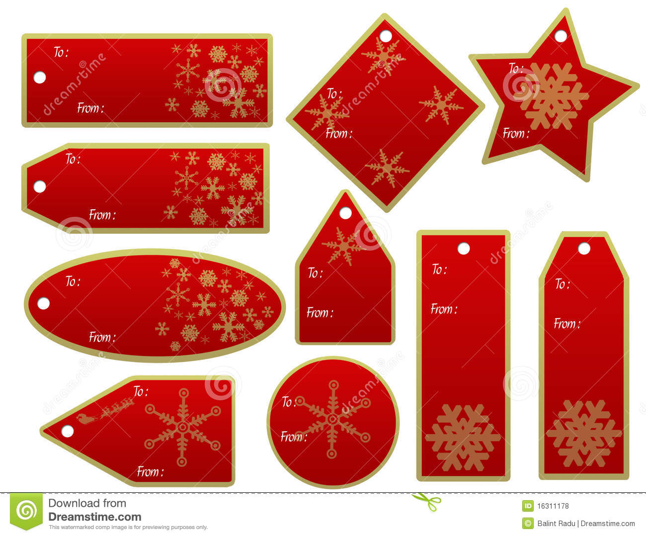 Christmas gift tags free download