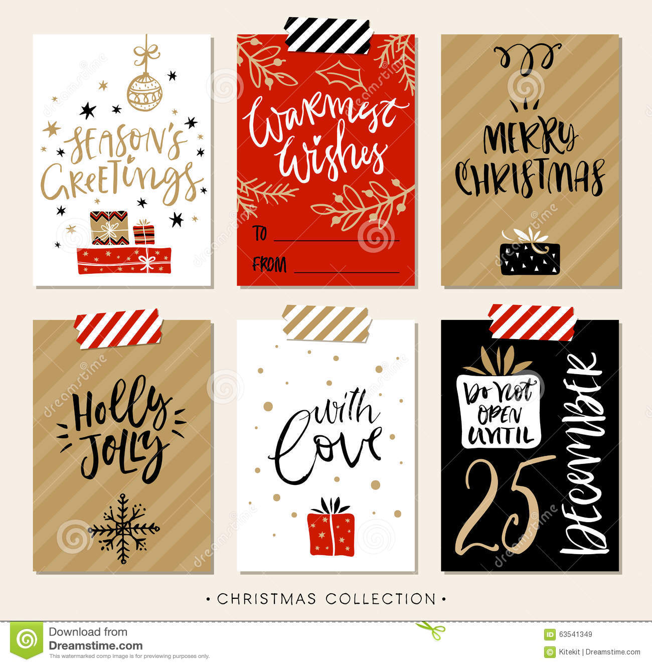 Merry christmas gift card design