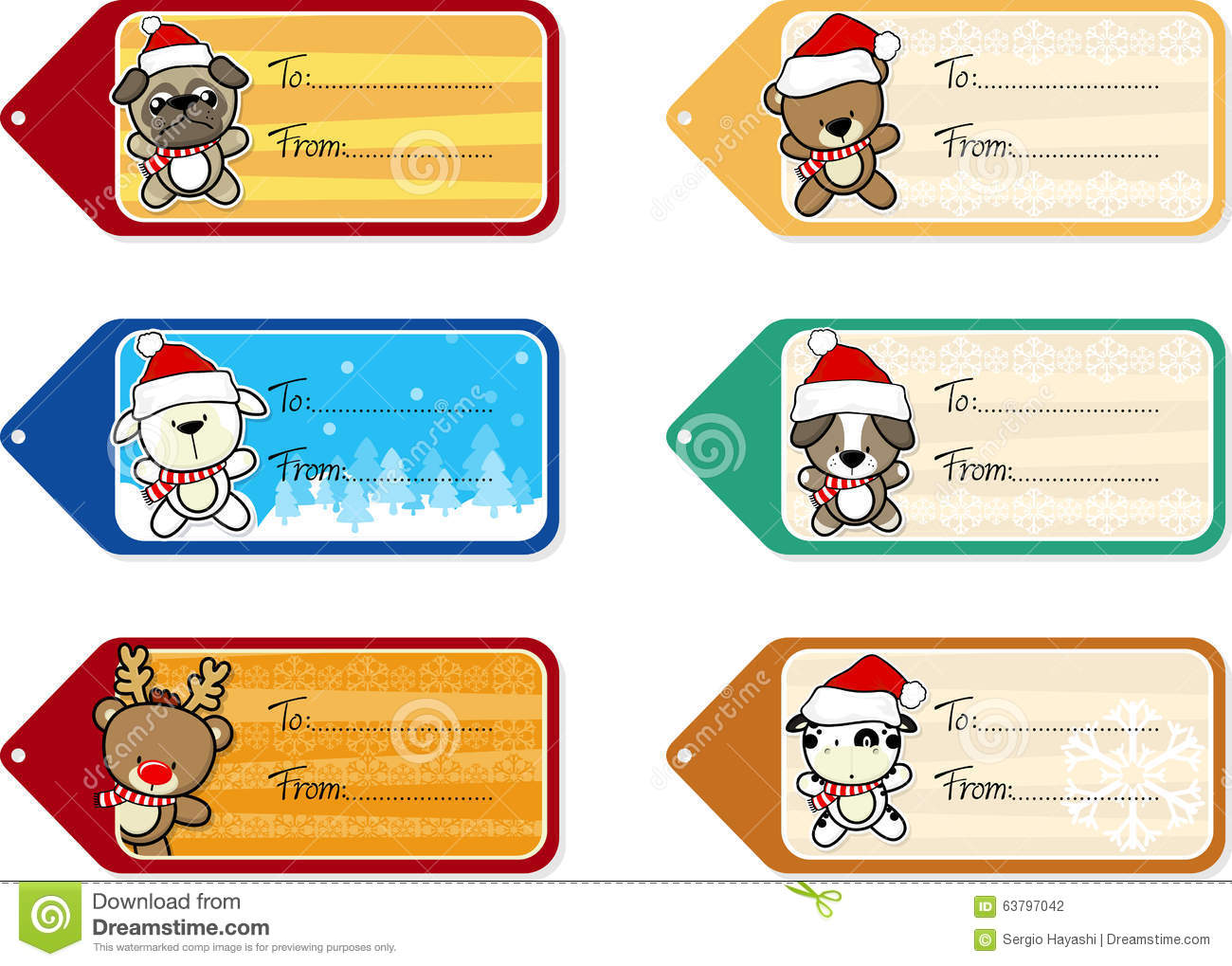 Christmas gifts pictures cartoons of animals