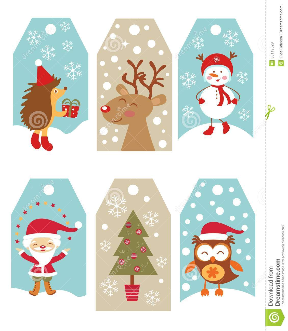 Christmas gift tags stock vector. Illustration of frame - 36119629