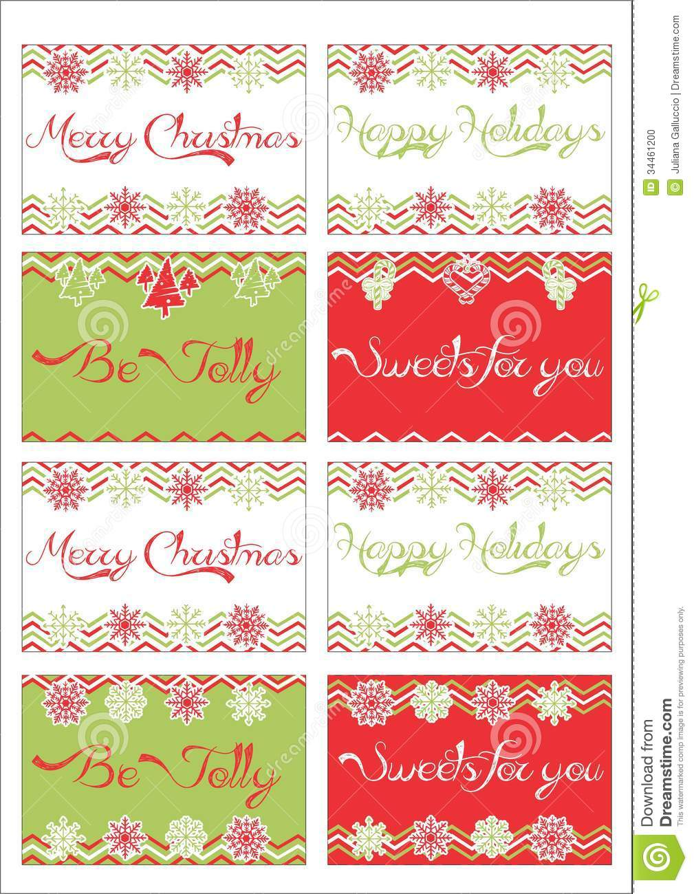 Christmas Gift Tags Stock Photo - Image: 34461200