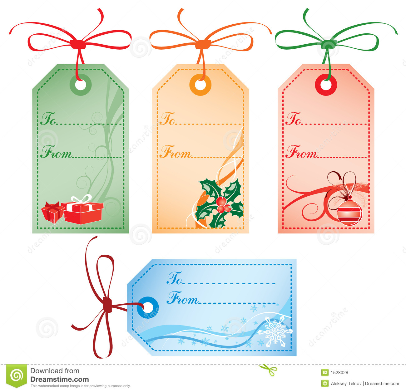 Christmas Gift Tags, Vector Royalty Free Stock Photos - Image: 1528028