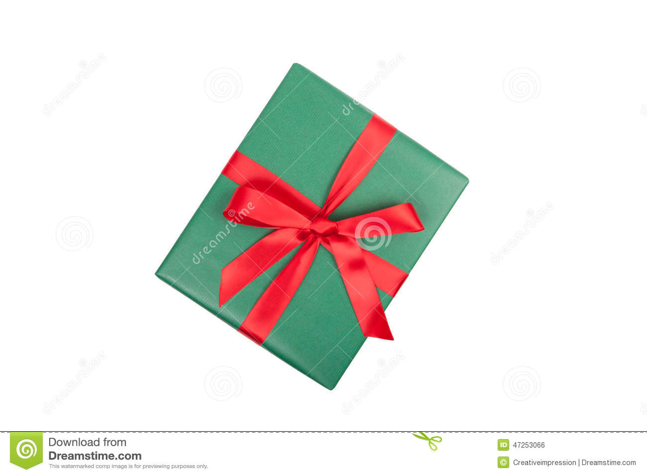 Christmas gift top view stock photo. Image of background - 47253066