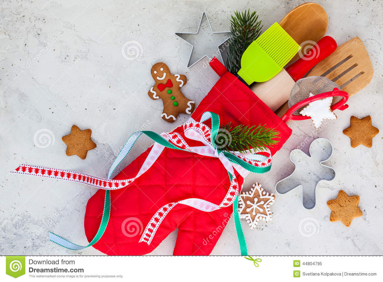 Christmas gift wrapping idea stock photo image 44804795 for Christmas gift ideas from the kitchen