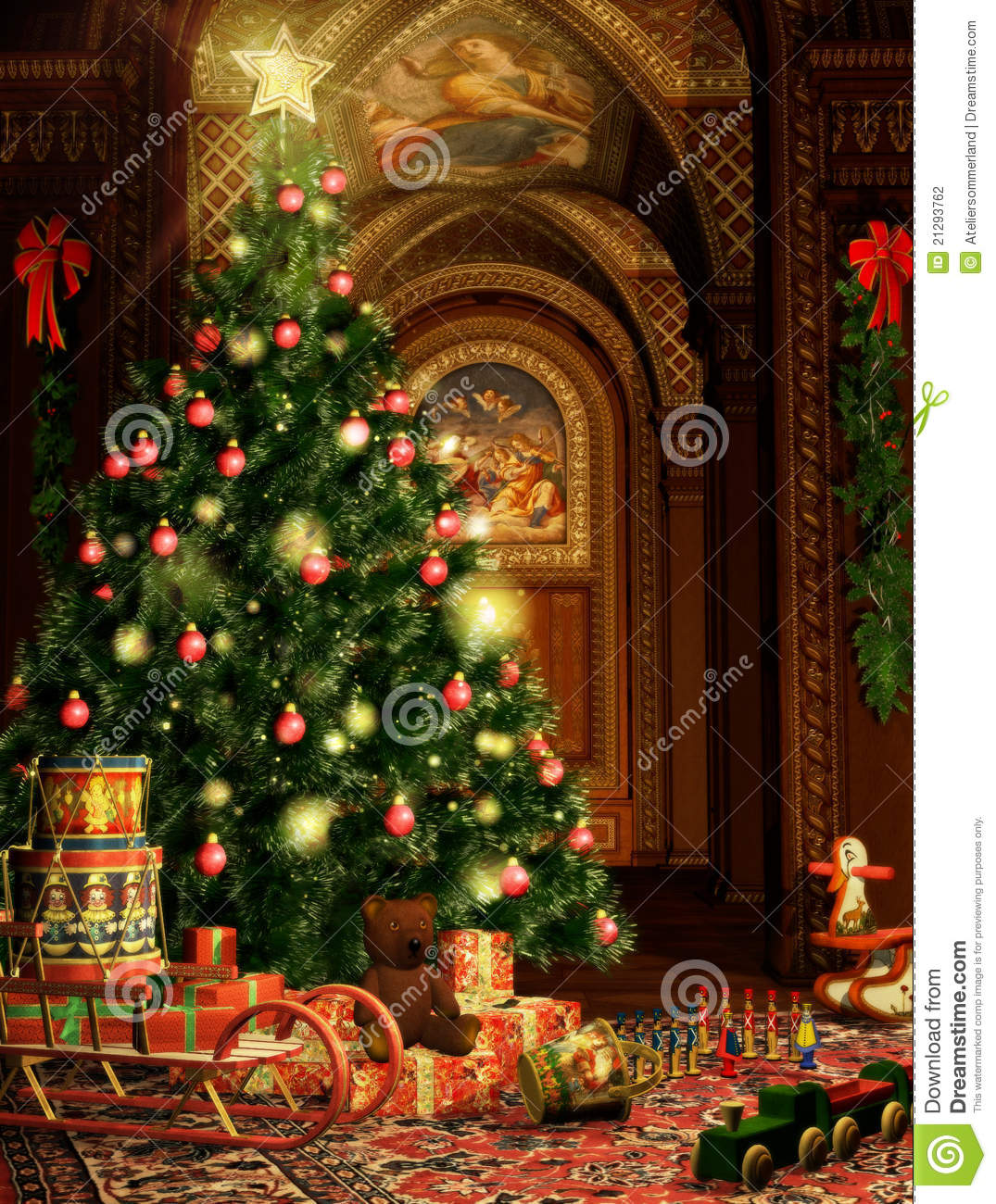 Christmas Gifts Stock Illustration Image Of Balls