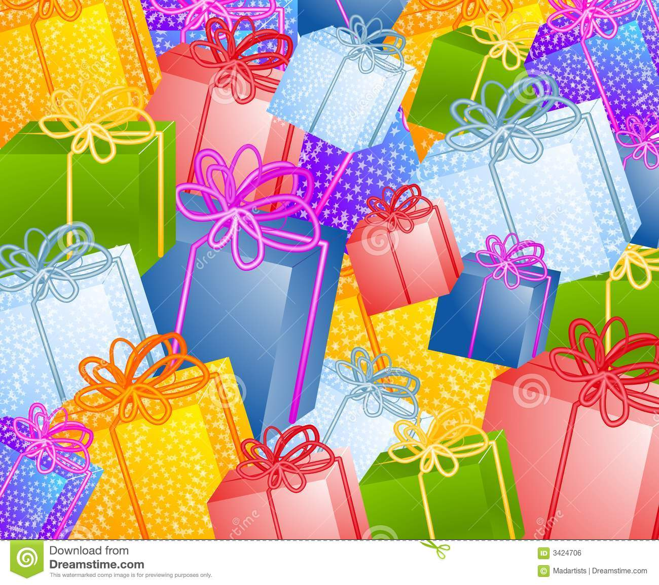 Christmas Gift Background: Christmas Gifts Background Stock Illustration