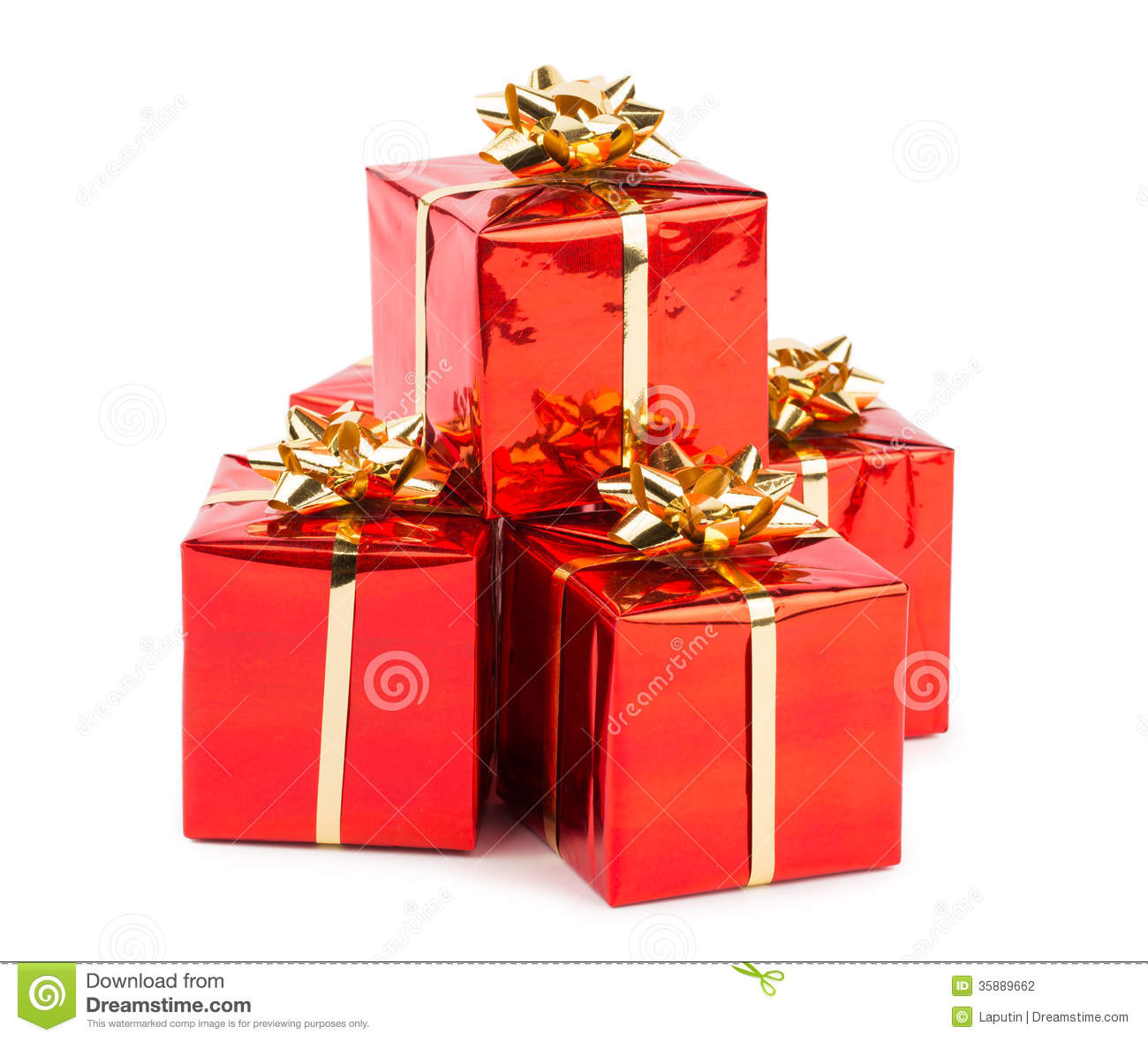 Christmas Gifts Stock Photo. Image Of Christmas, Objects