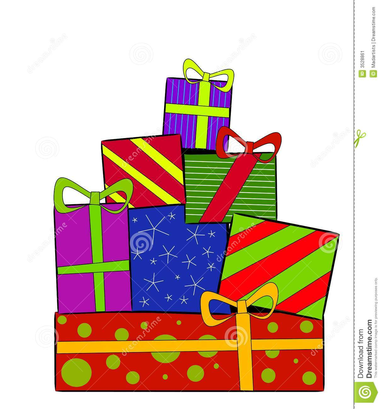 Christmas gifts clipart images