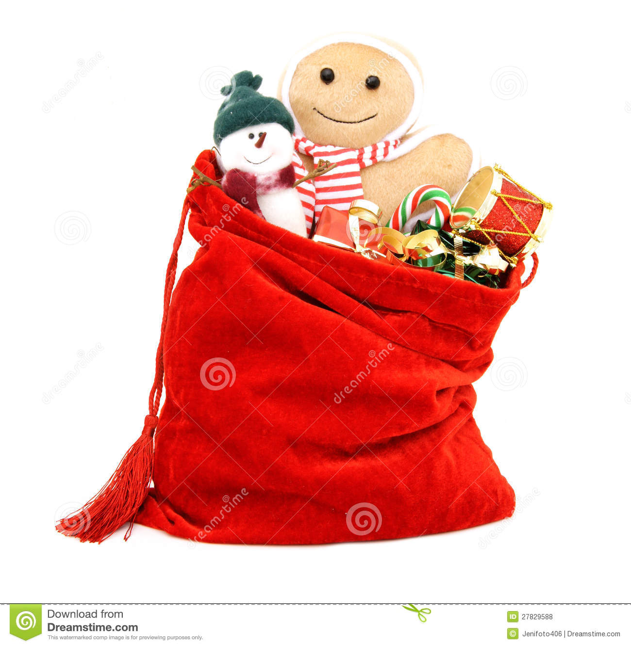 Bag Of Toys : Christmas gifts and toys royalty free stock photos image