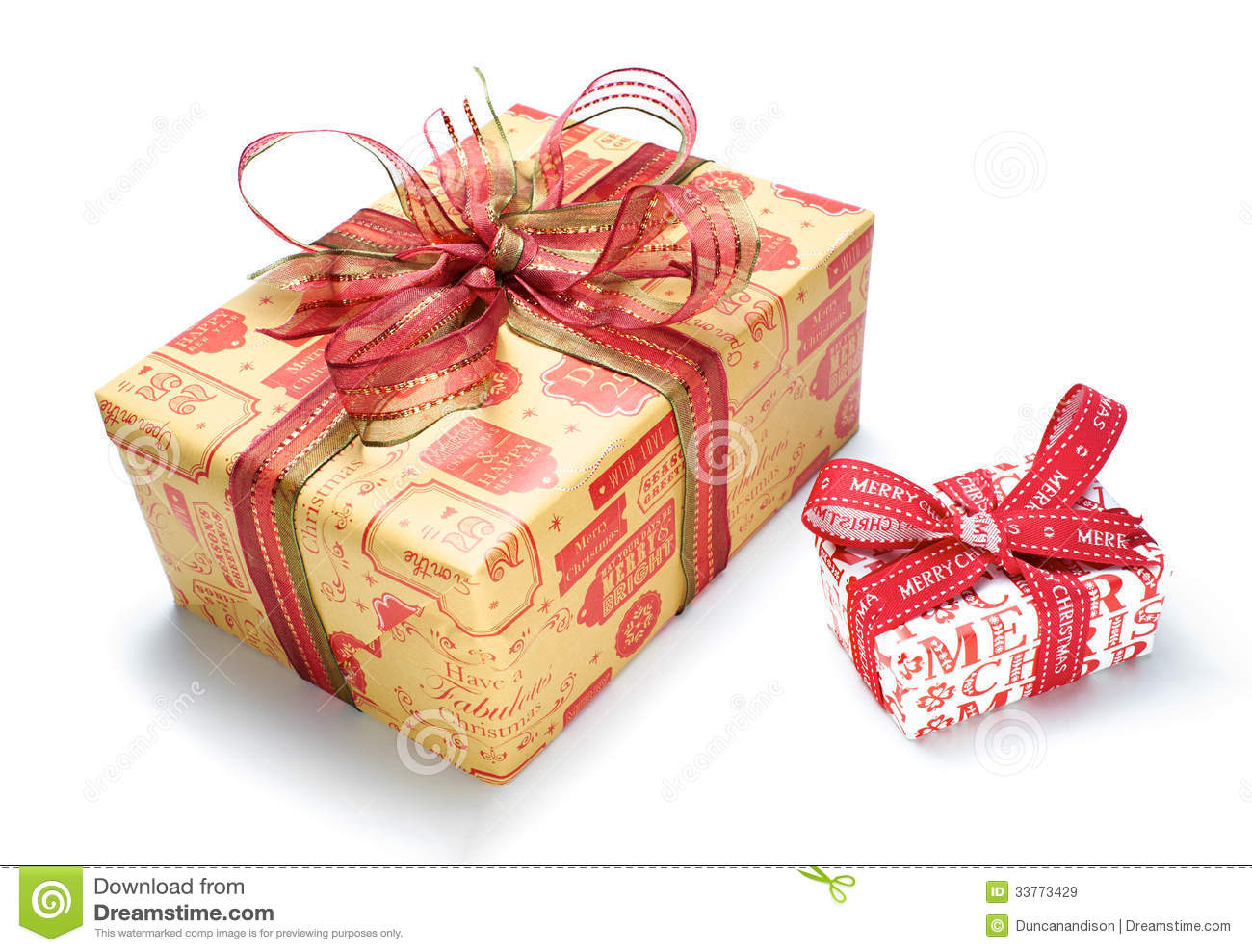 Christmas Gifts stock image. Image of bows, coloured - 33773429
