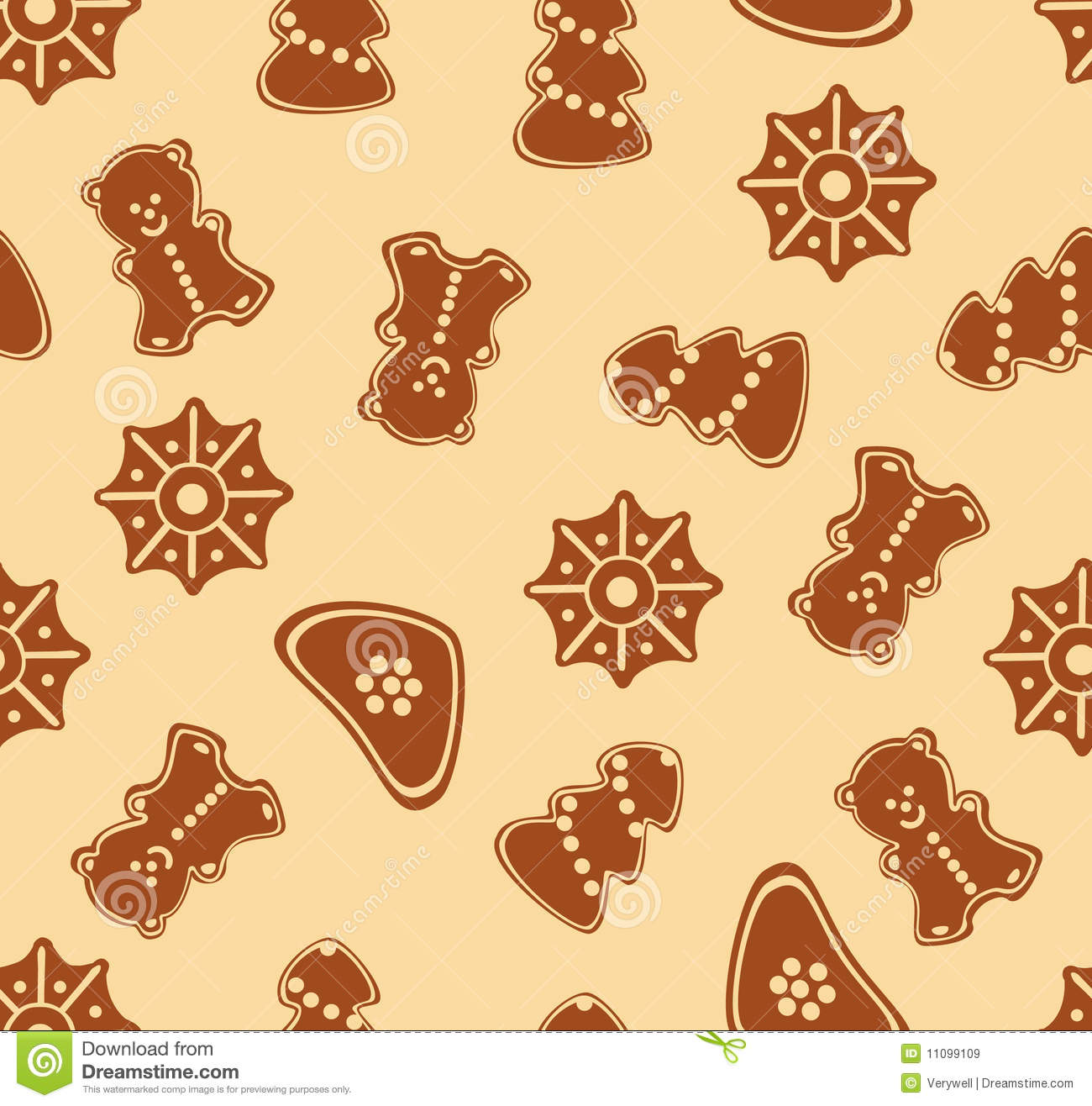 Ginger Cake Patterns And Design : Christmas Ginger Seamless Pattern Royalty Free Stock ...
