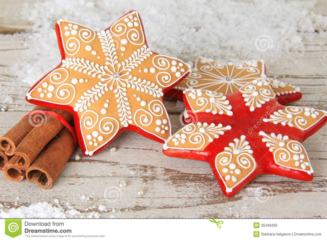 Christmas Gingerbread Cookie Stock Image Image Of Icing Decorated