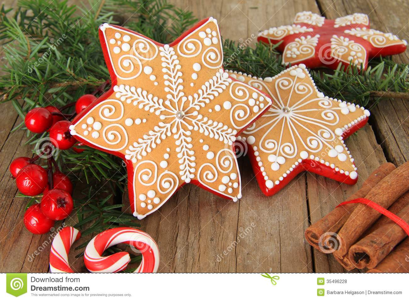 Christmas gingerbread sugar star cookie also available in vertical