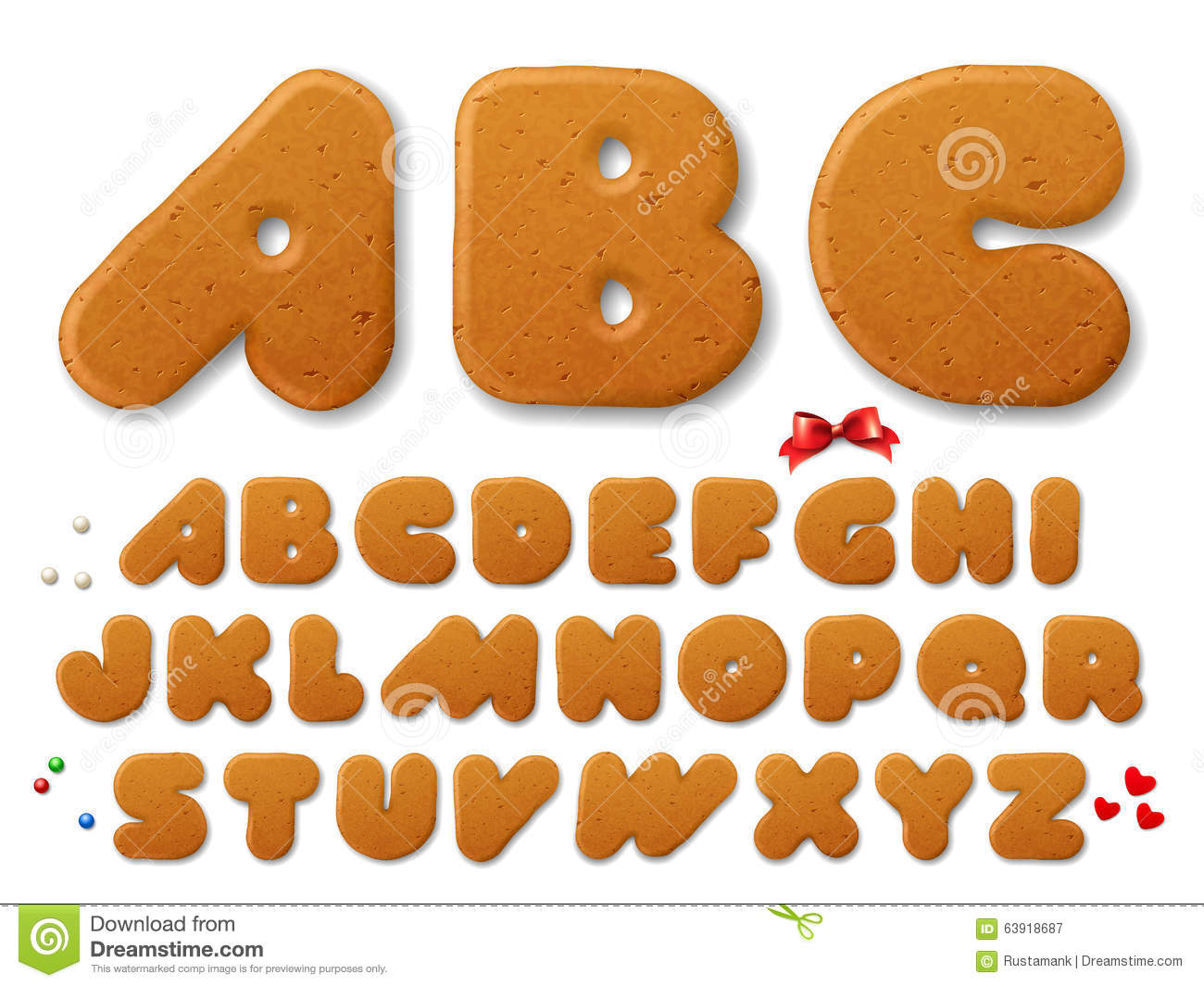 Letters Using Baking Clipart