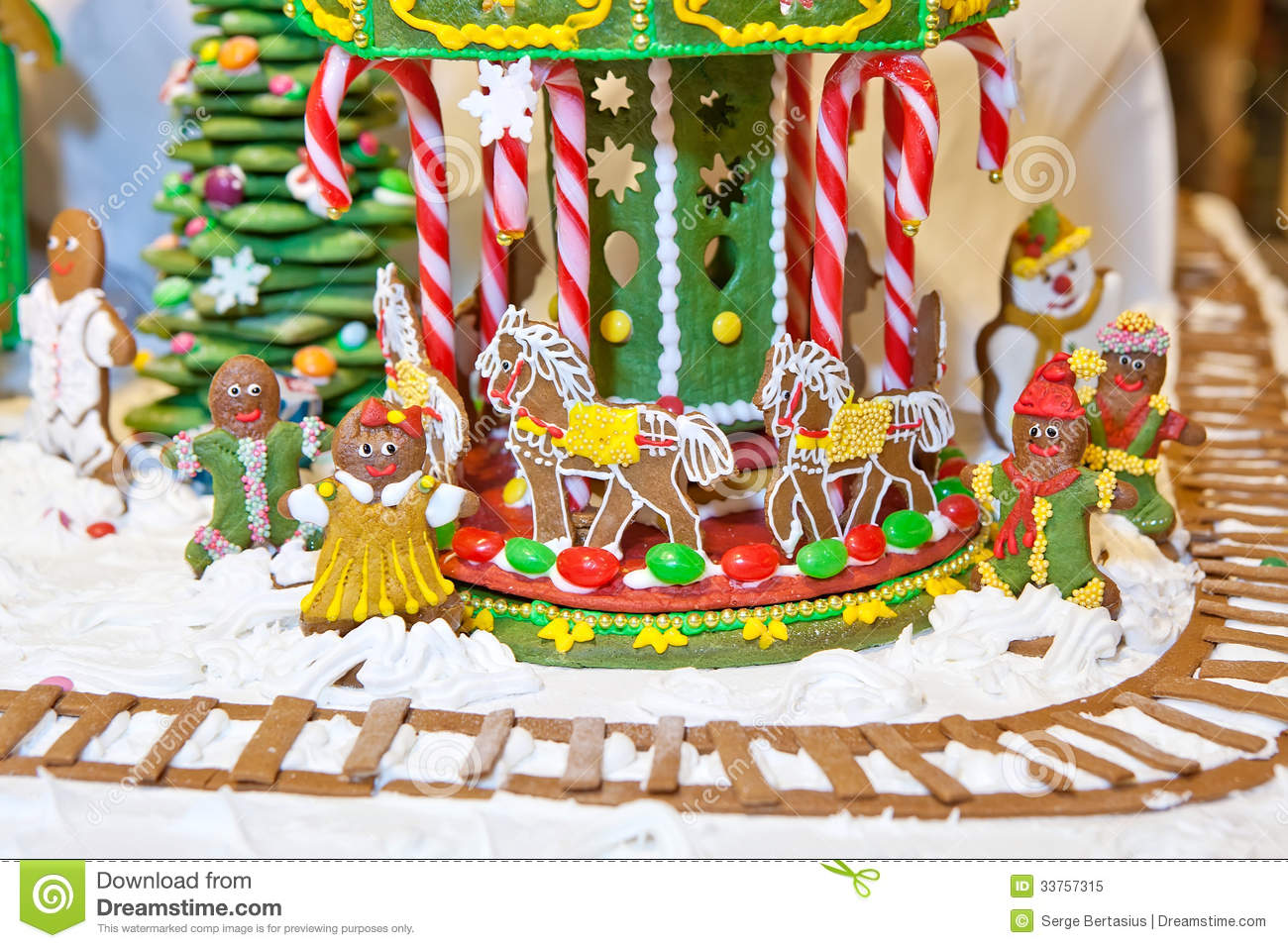 christmas gingerbread decoration - Christmas Carousel Decoration
