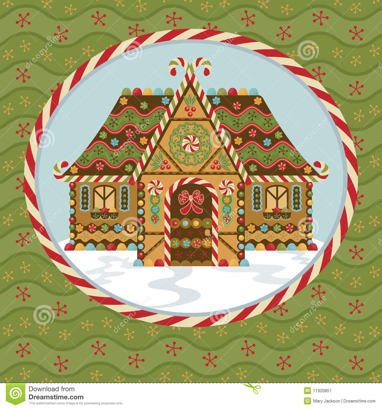 christmas clip art gingerbread house - photo #31