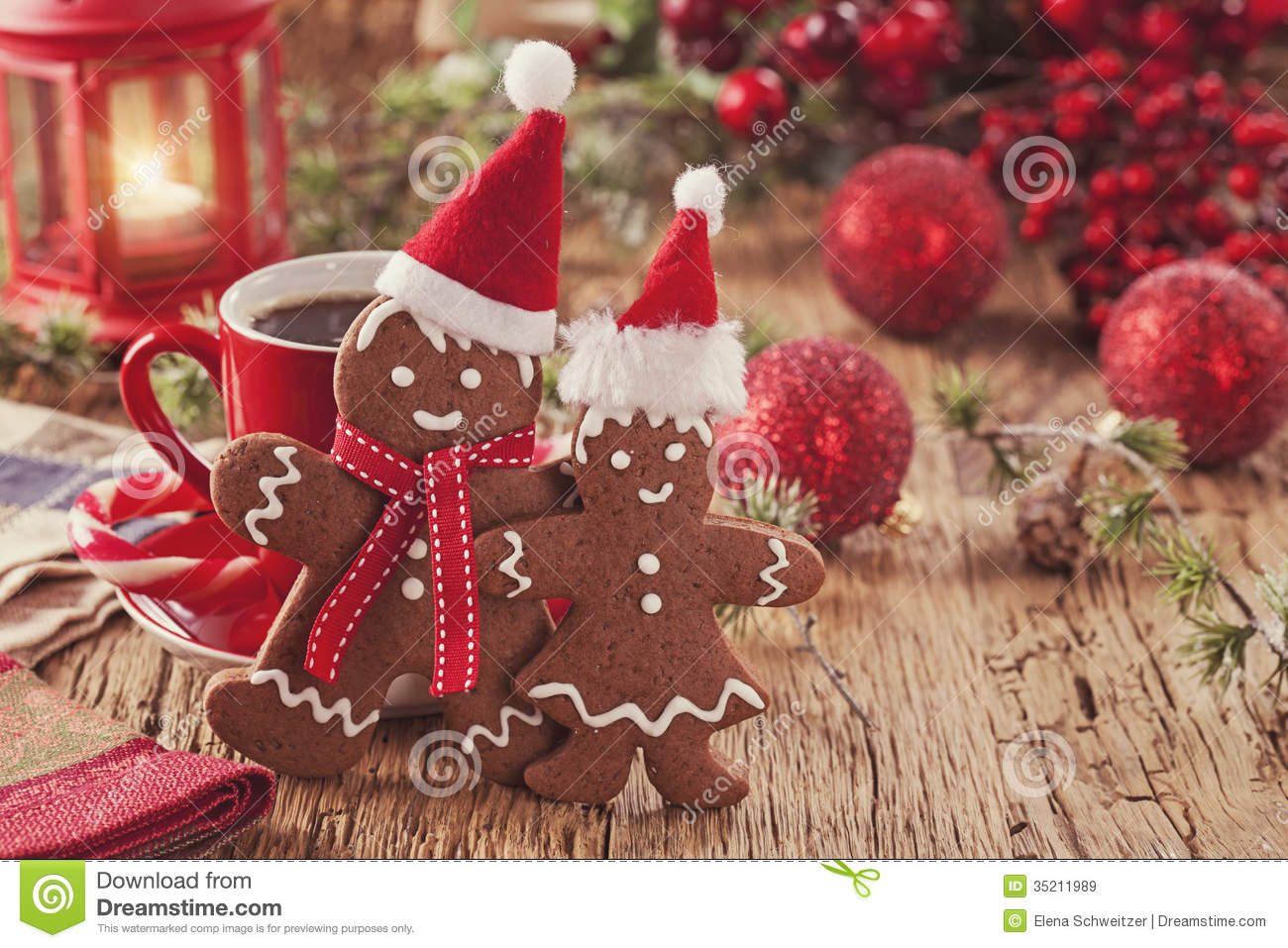 Christmas Gingerbread Men Royalty Free Stock Images - Image: 35211989
