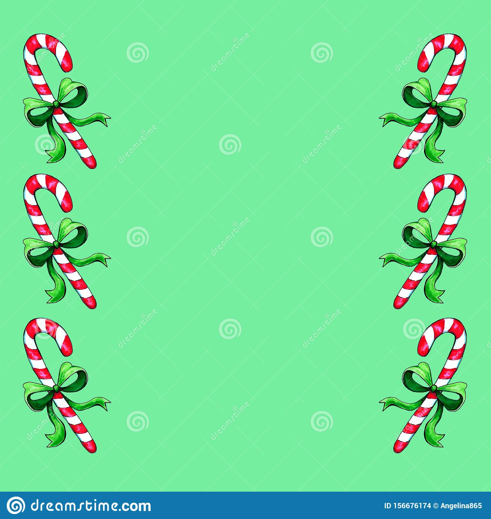 christmas gingerbread seamless pattern watercolor illustration cute xmas background wallpaper gift paper pattern fills textile 156676174