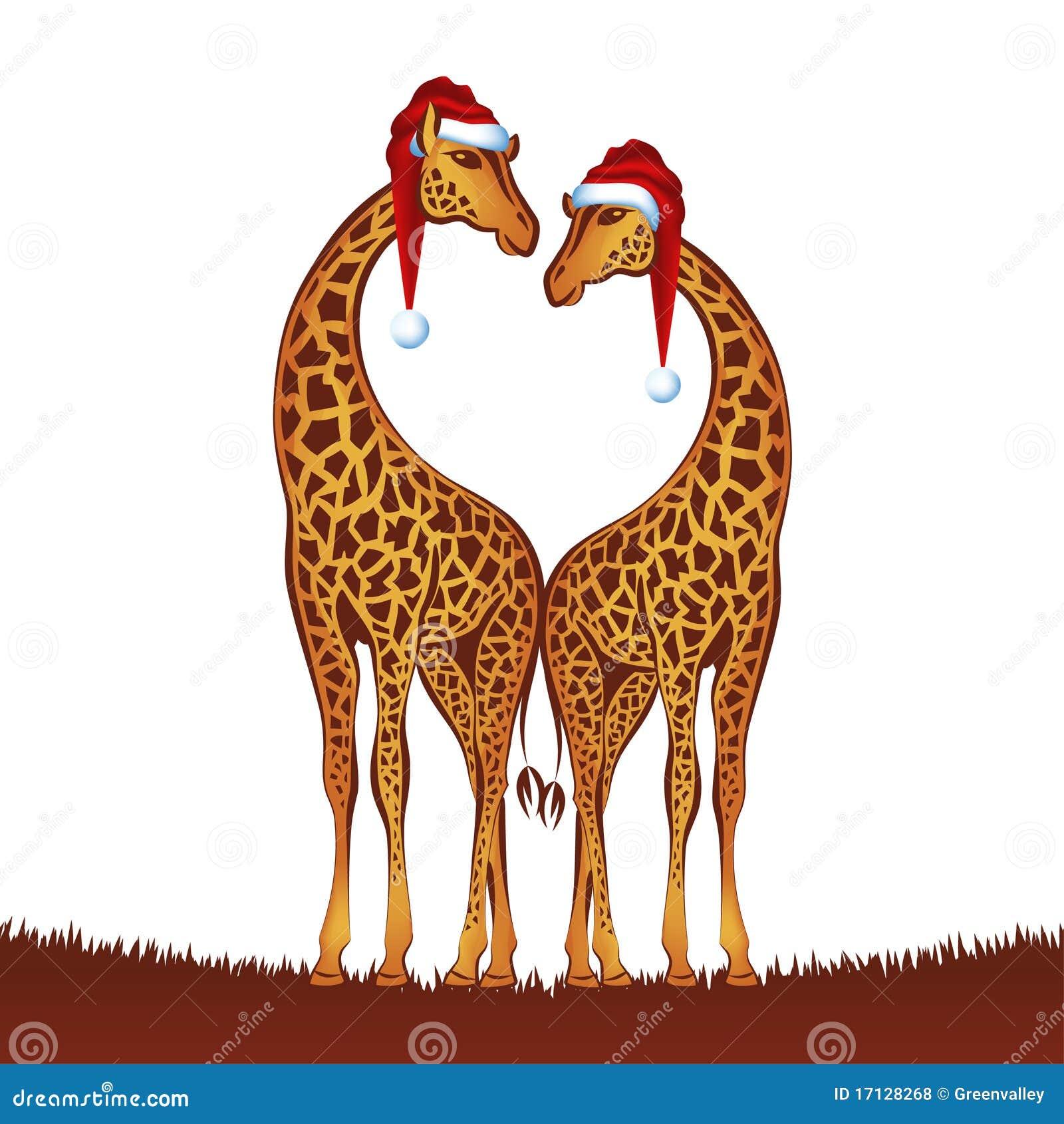 Christmas Giraffes Royalty Free Stock Photos - Image: 17128268