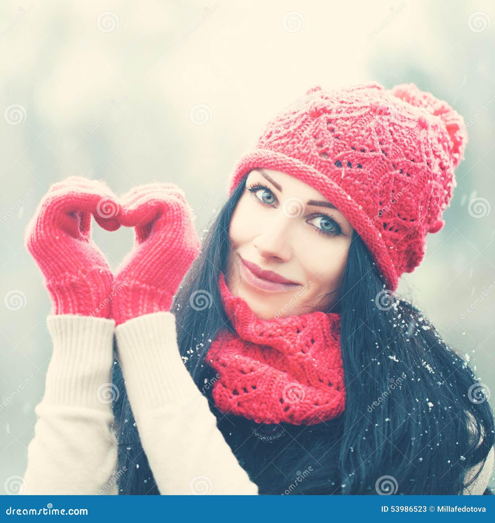 Happy girl in love