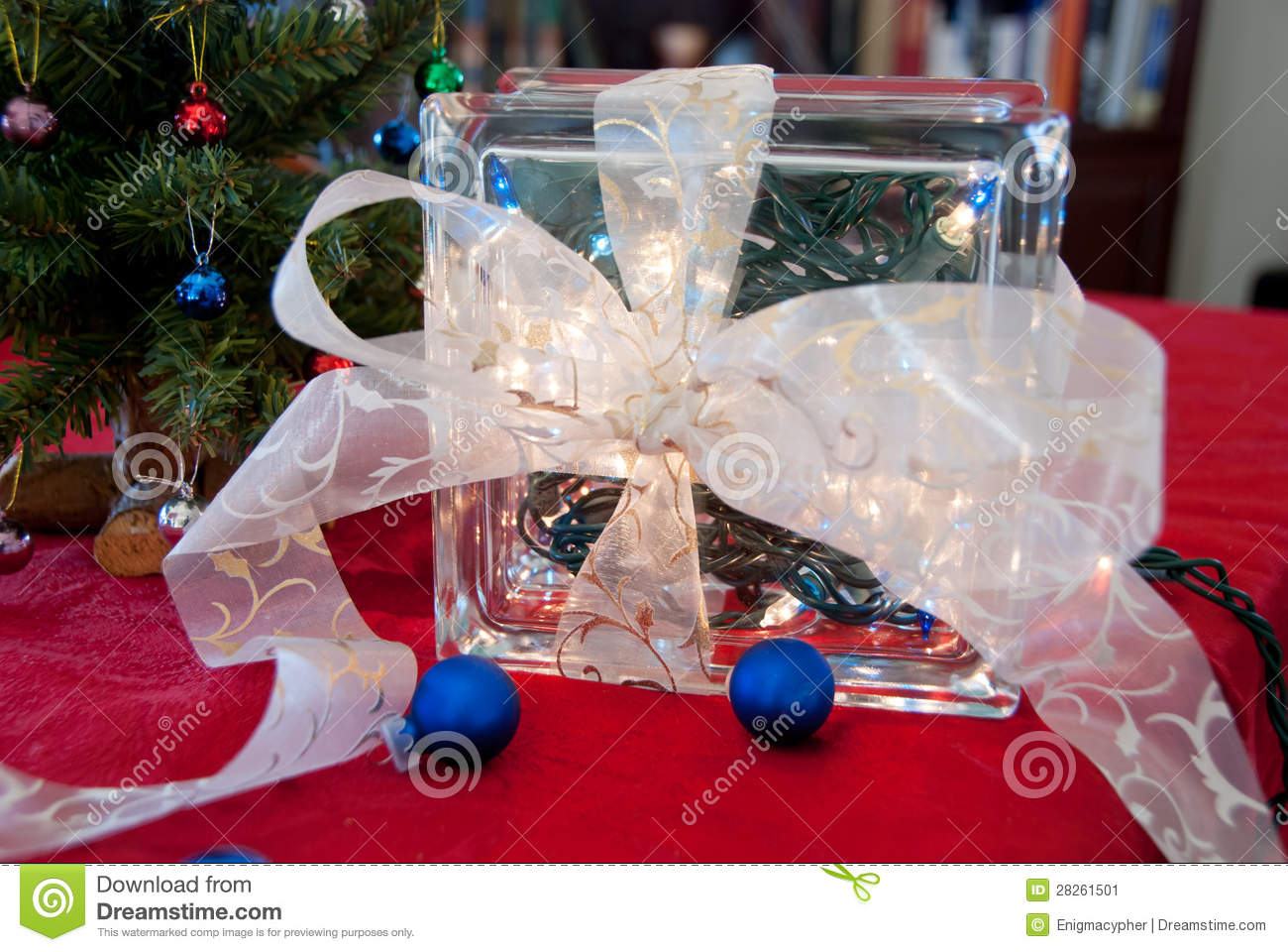 download christmas glass block decoration stock image image of craft hollow 28261501