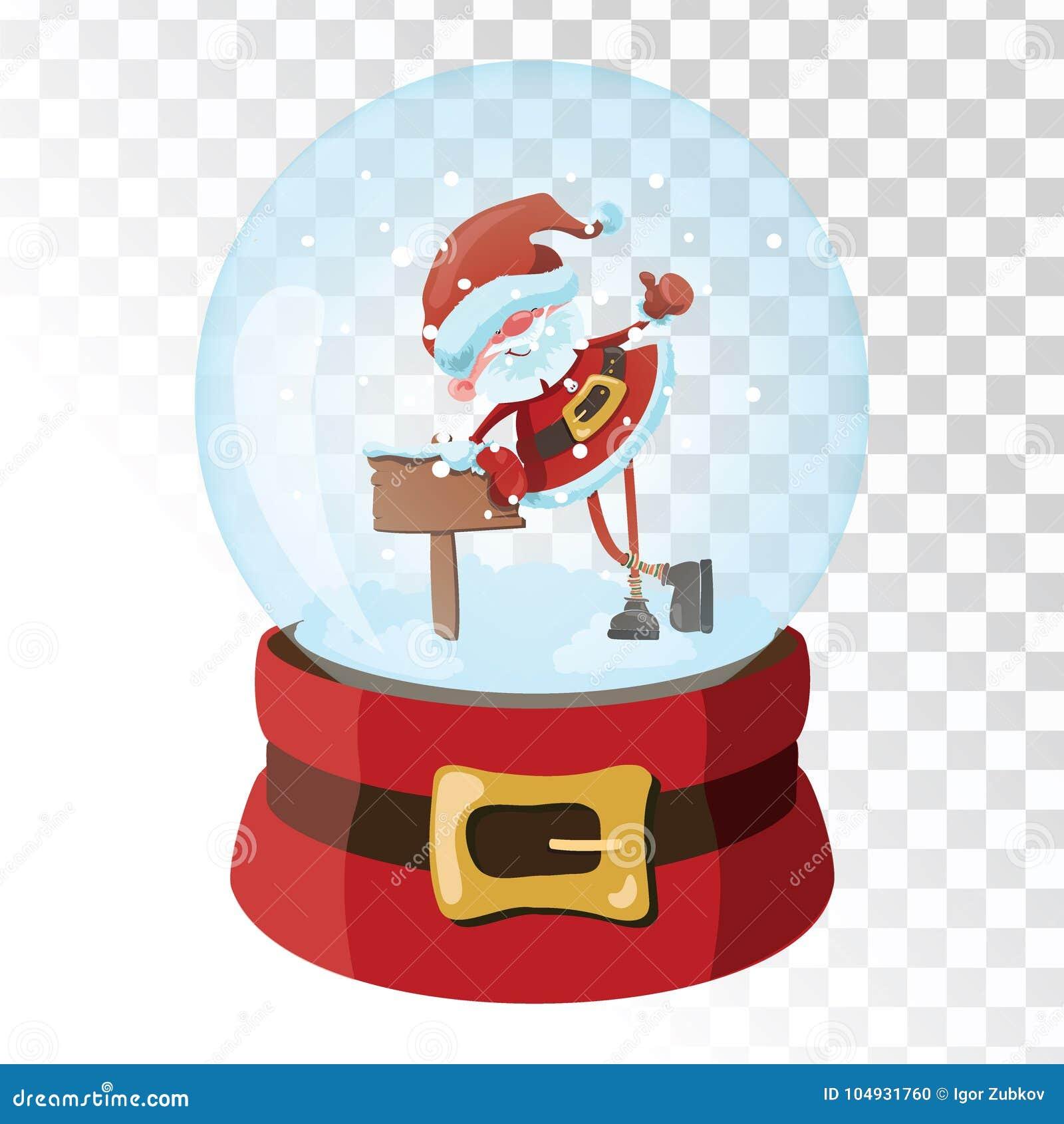 Christmas glass magic ball with santa claus transparent glass christmas glass magic ball with santa claus transparent glass sphere with snowflakes m4hsunfo