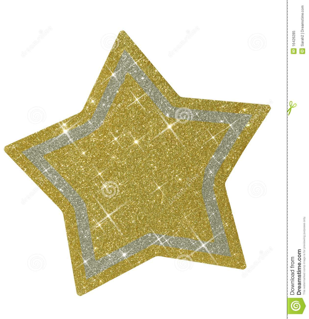 Christmas Glittery Star - Isolated Royalty Free Stock Photo - Image ...