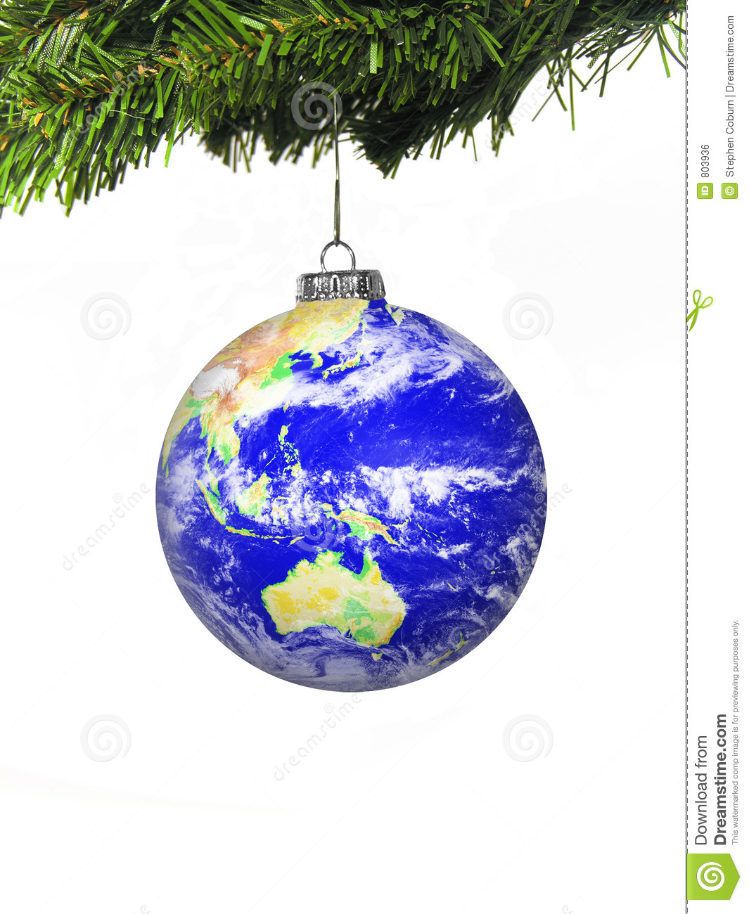 World globe christmas ornaments - Christmas Globe