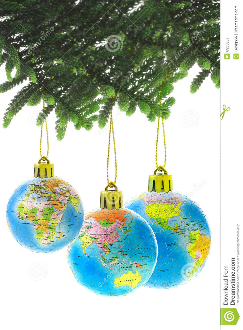 Suspended Ornament Christmas Tree