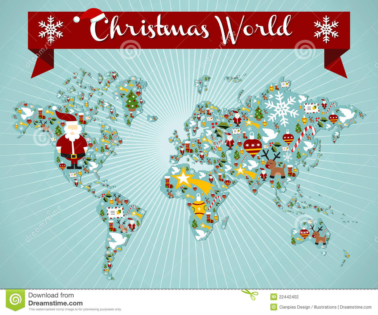 christmas globe map concept stock photography image
