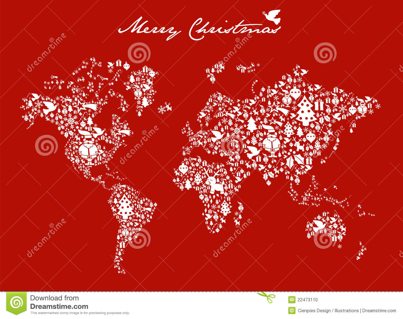 Christmas Globe Map Concept Stock Photo Image 22473110