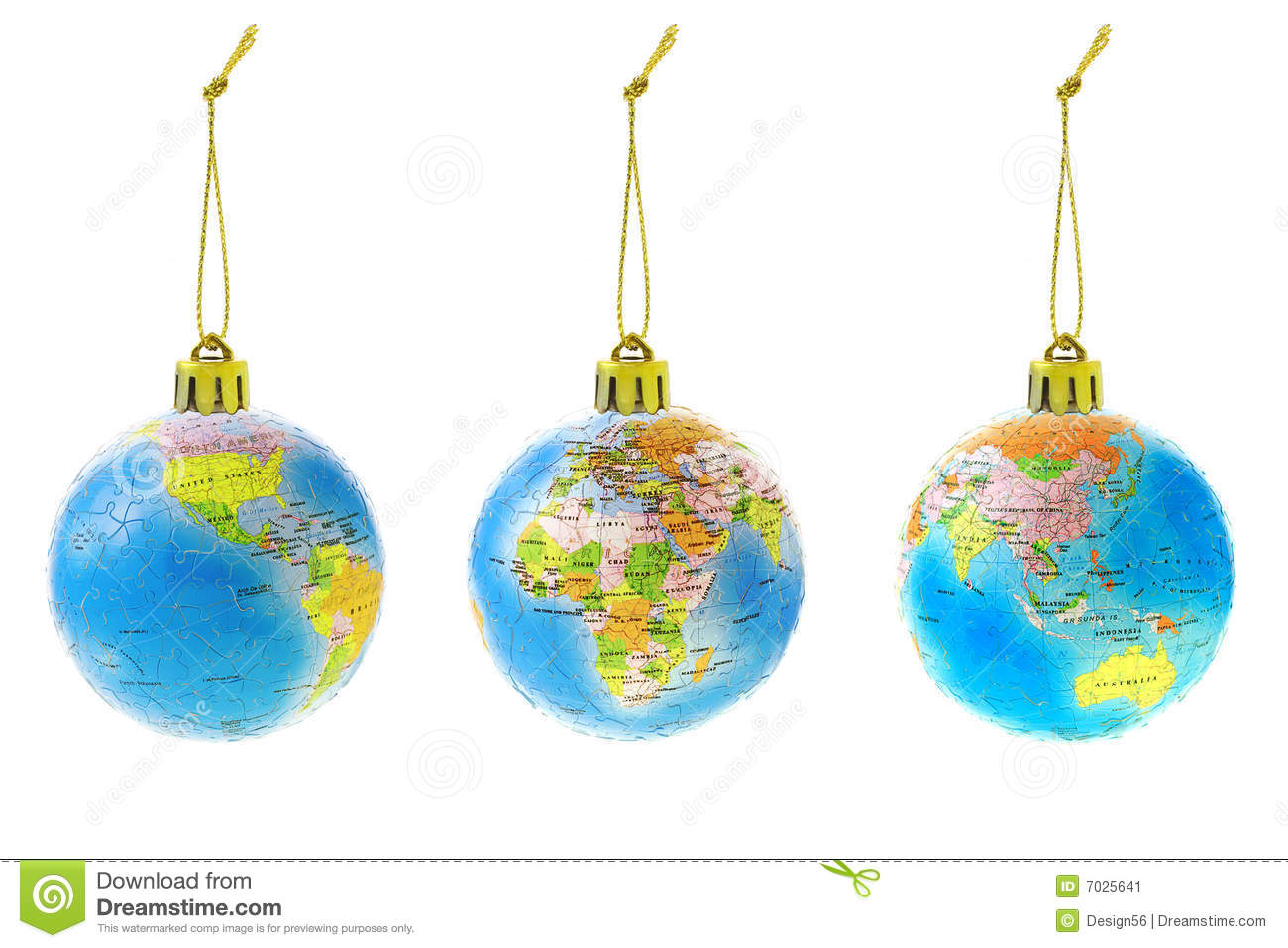Glass globe ornaments - Christmas Globe Ornaments