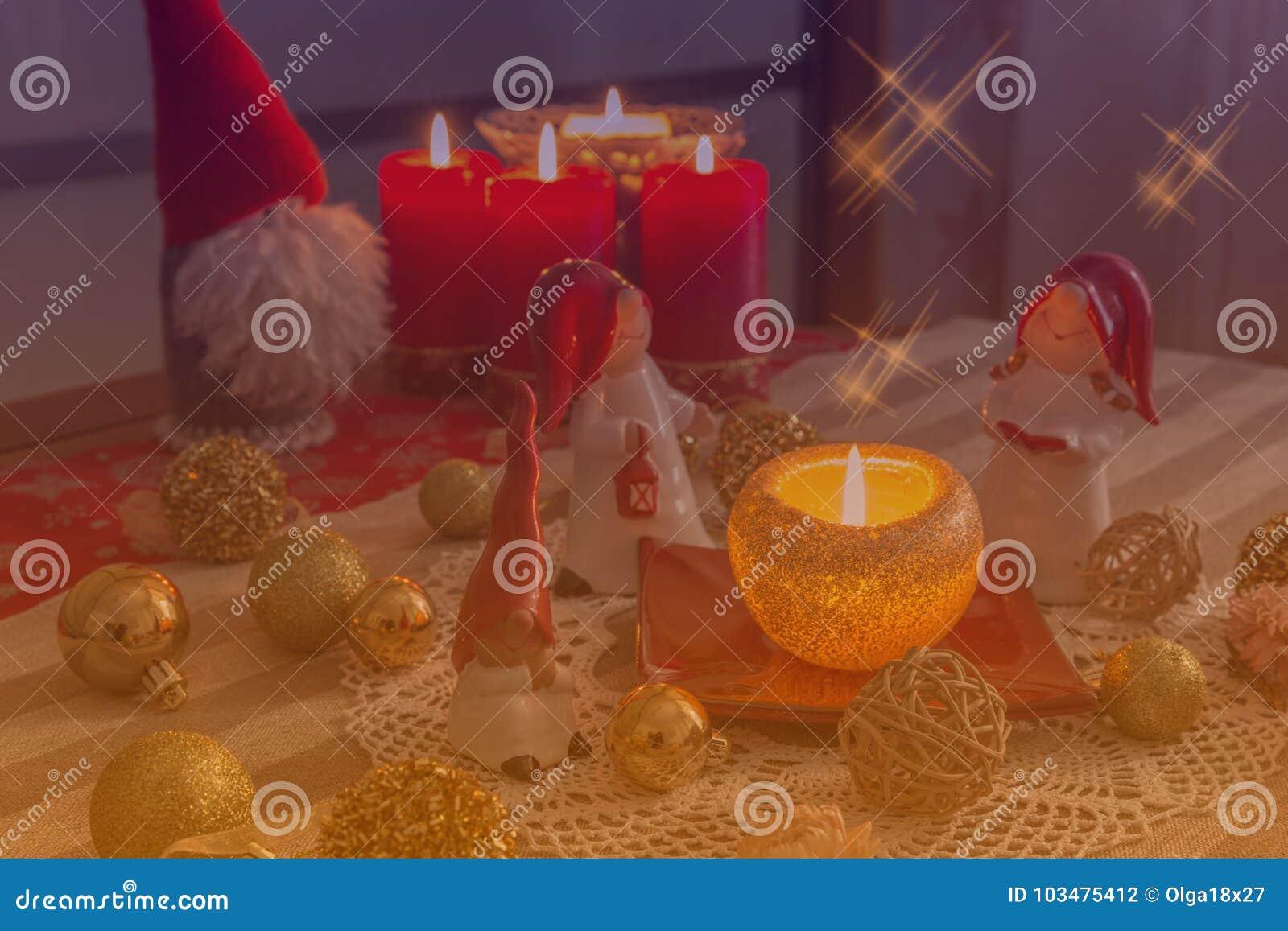 Christmas Gnome Decor.Christmas Gnome Decor With Santa Hat Holiday Bohek