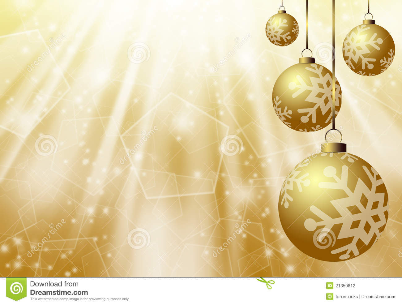 Christmas Gold Background Stock Illustration Image Of