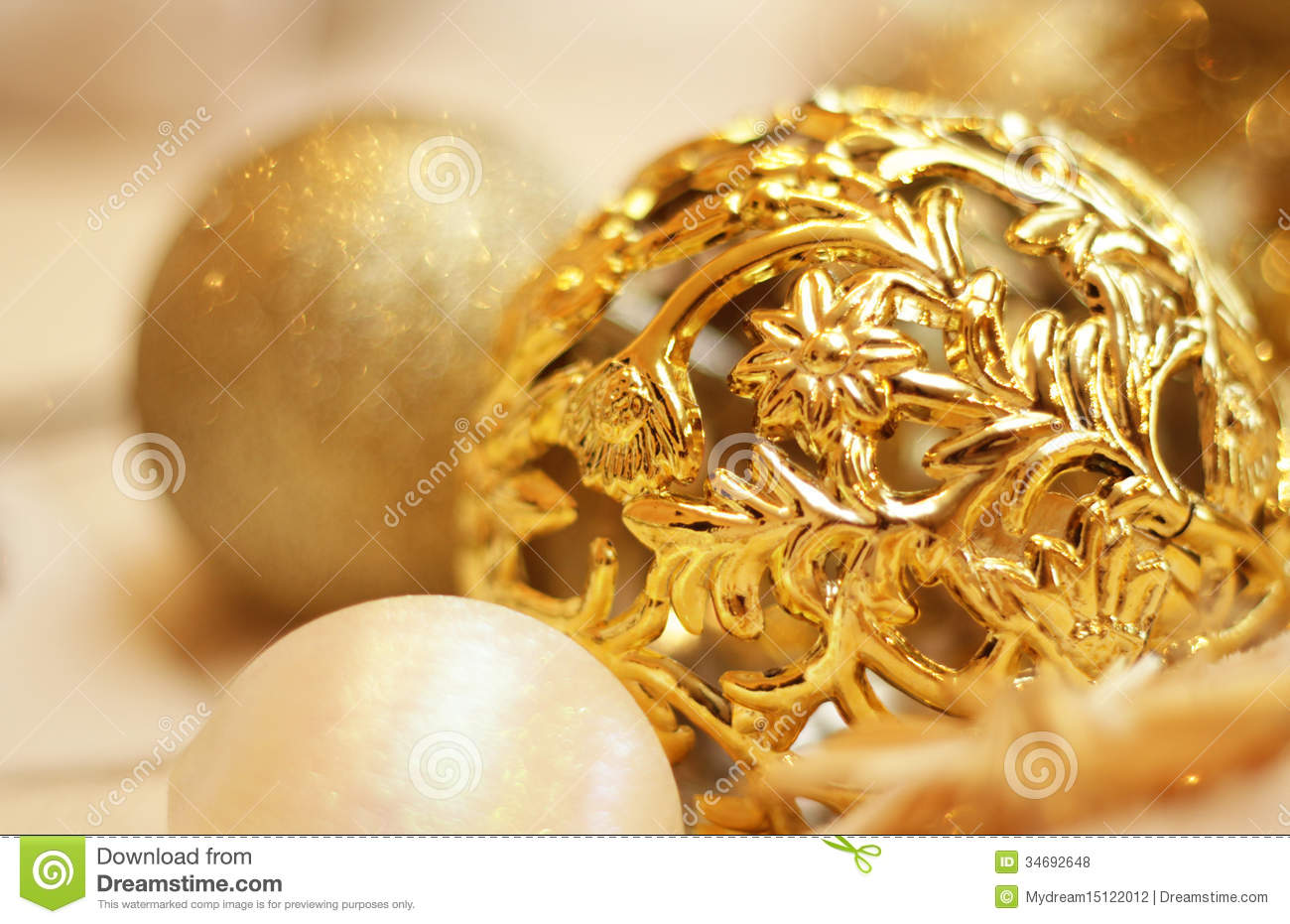 christmas gold decoration - Gold Decorations