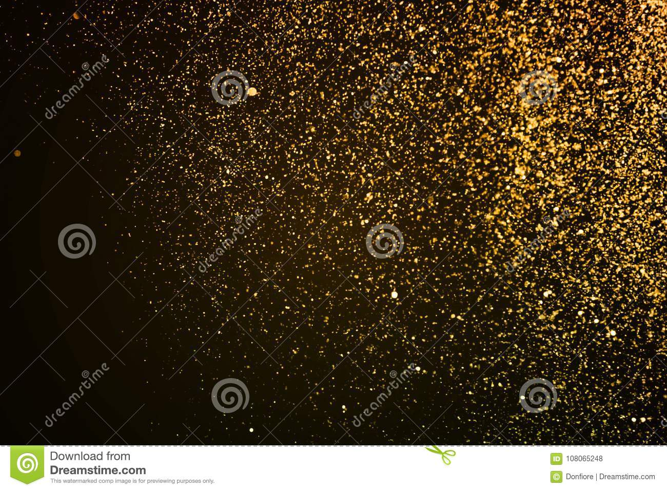 Christmas Gold Sparkle Glitter Explosion Dust Particles Background