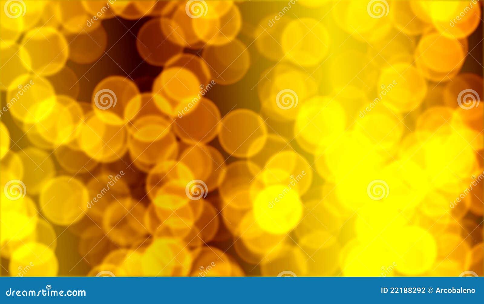 Christmas golden bokeh