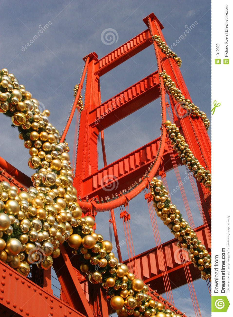 Christmas At The Golden Gate Replica Royalty Free Stock