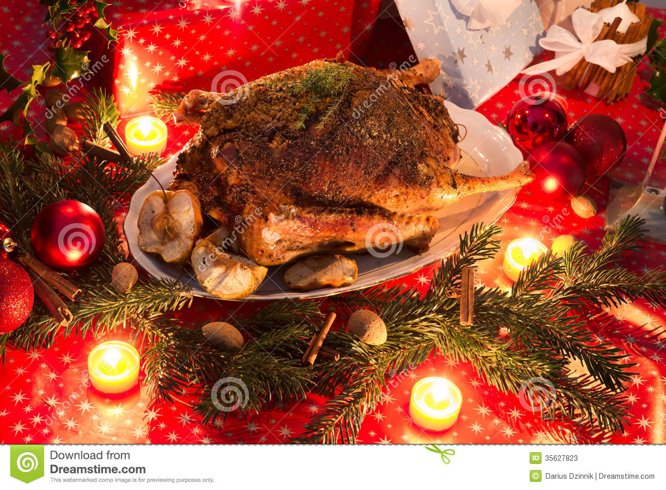 Christmas goose Stock Photos
