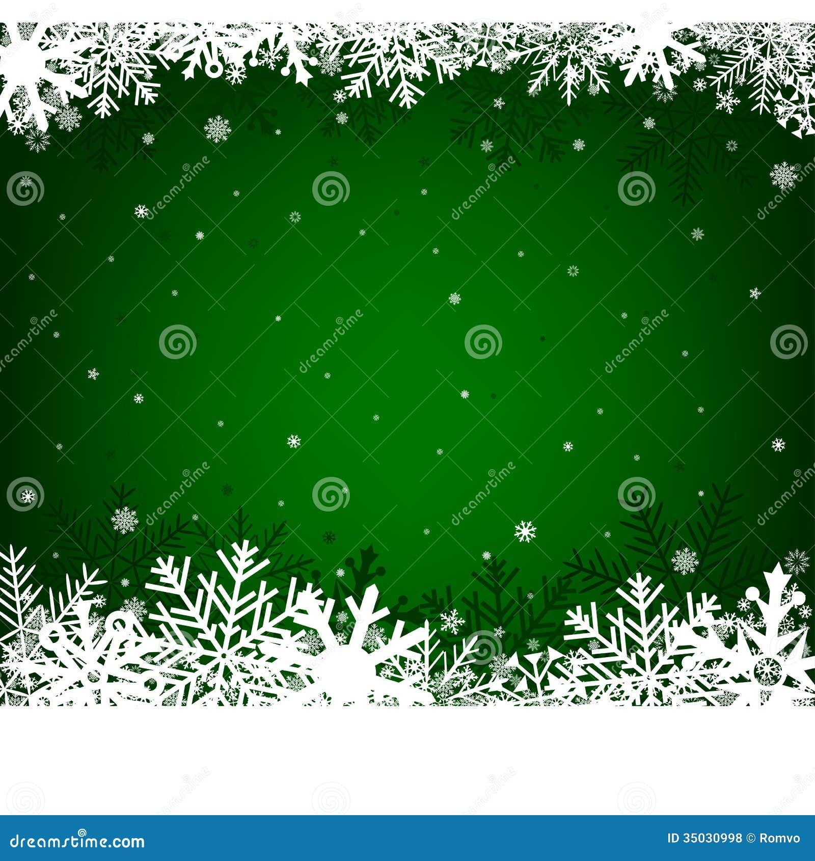 Christmas Green Background Stock Vector Illustration Of