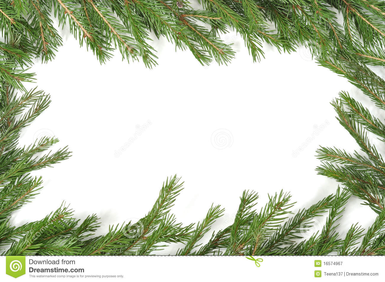 Christmas Green Border Royalty Free Stock Photography - Image ...