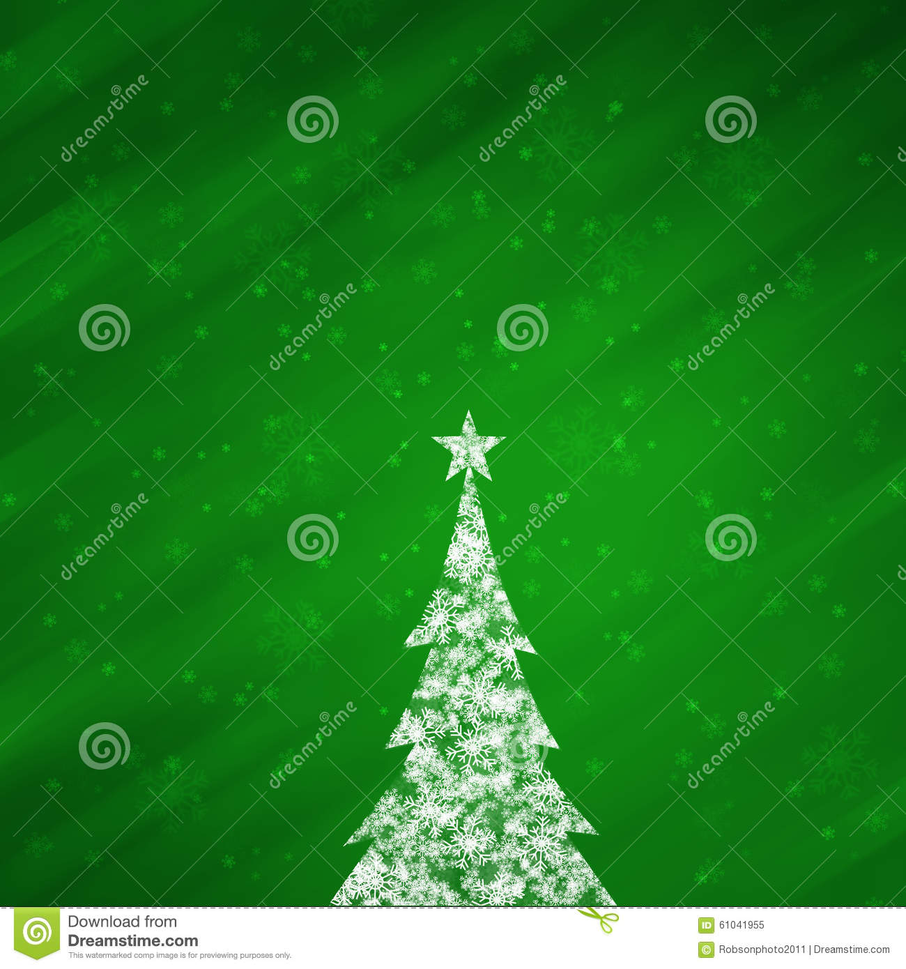 Christmas Green Color Background With Lovely Christmas Tree Stock ...