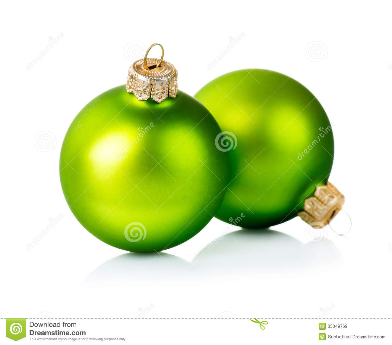 Christmas Green Decorations Royalty Free Stock Images