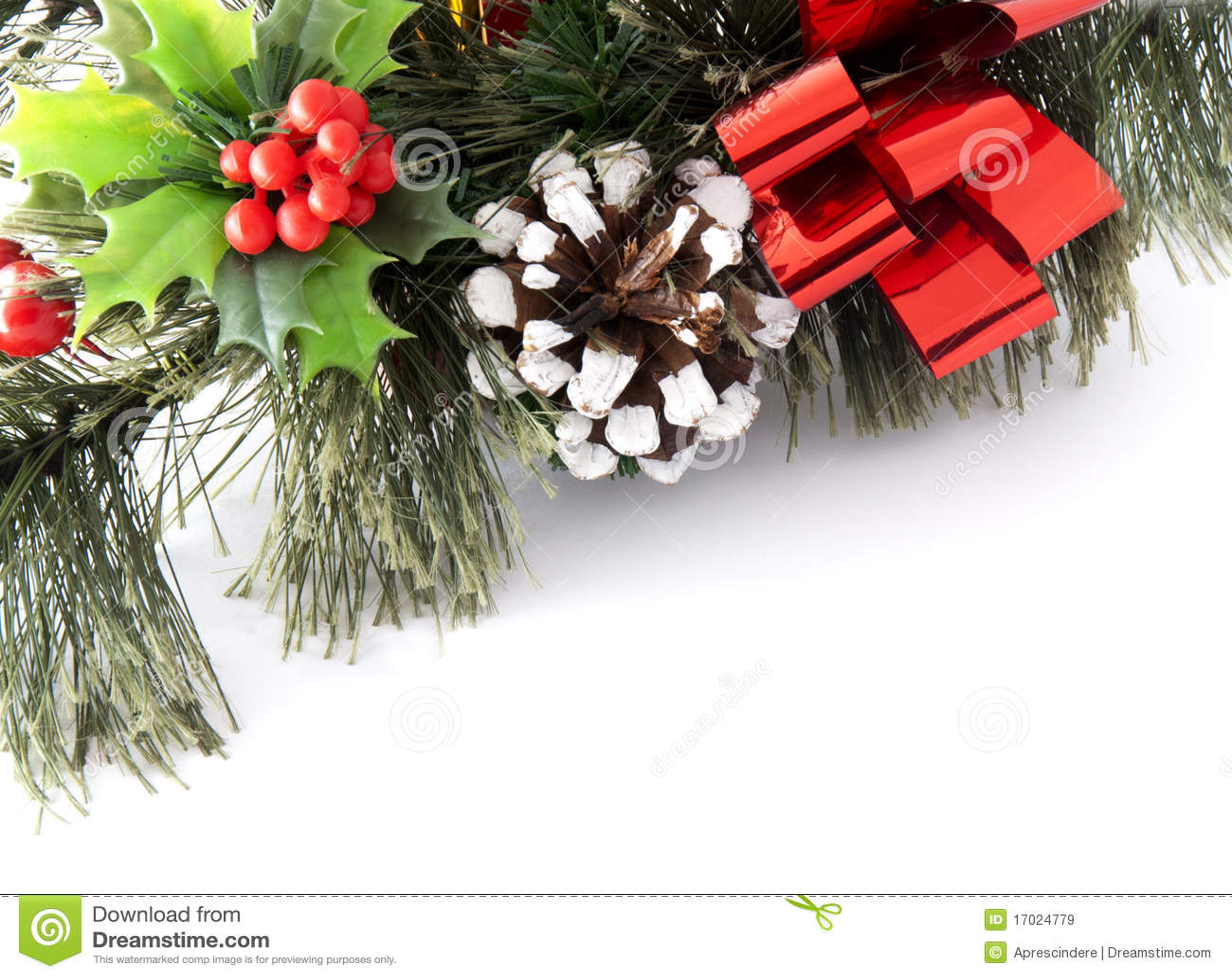 Christmas greenery card