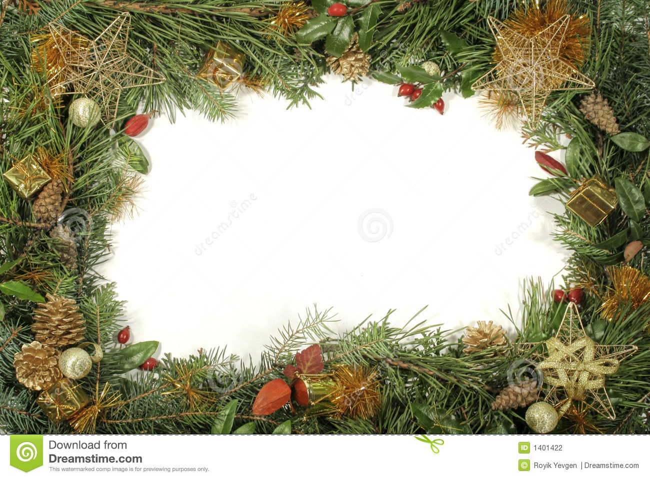 download christmas greenery and decorations stock photo image of greetings pine 1401422 - Christmas Greenery