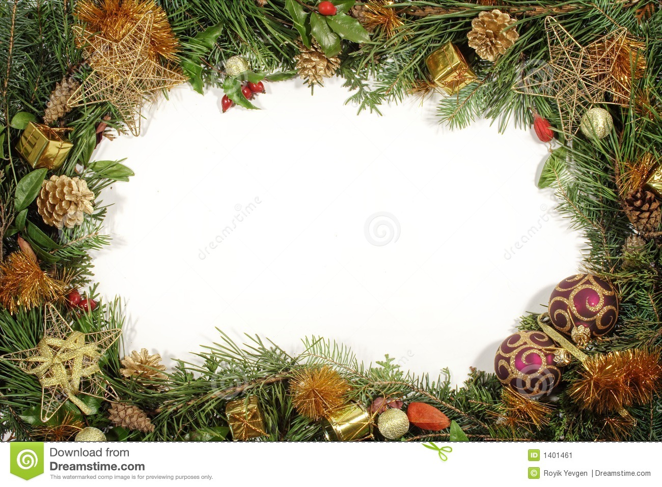 Christmas Greenery And Decorations Stock Image Image