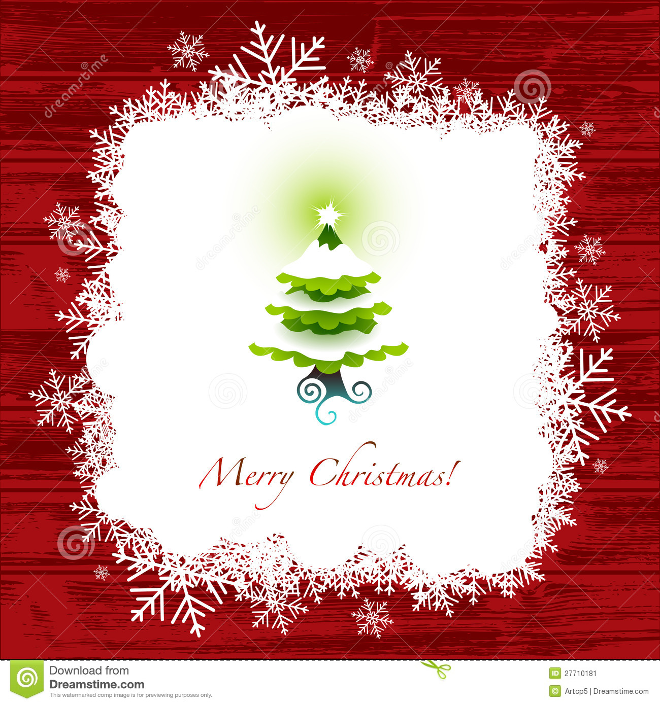 Peachy Christmas Greeting Card Stock Image Image 27710181 Easy Diy Christmas Decorations Tissureus