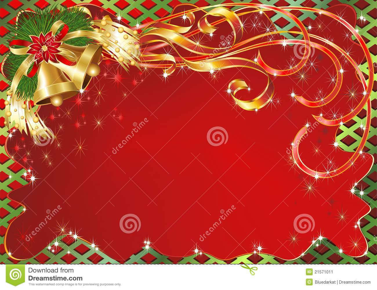 Christmas Greeting Card Background With Bells Stock Vector