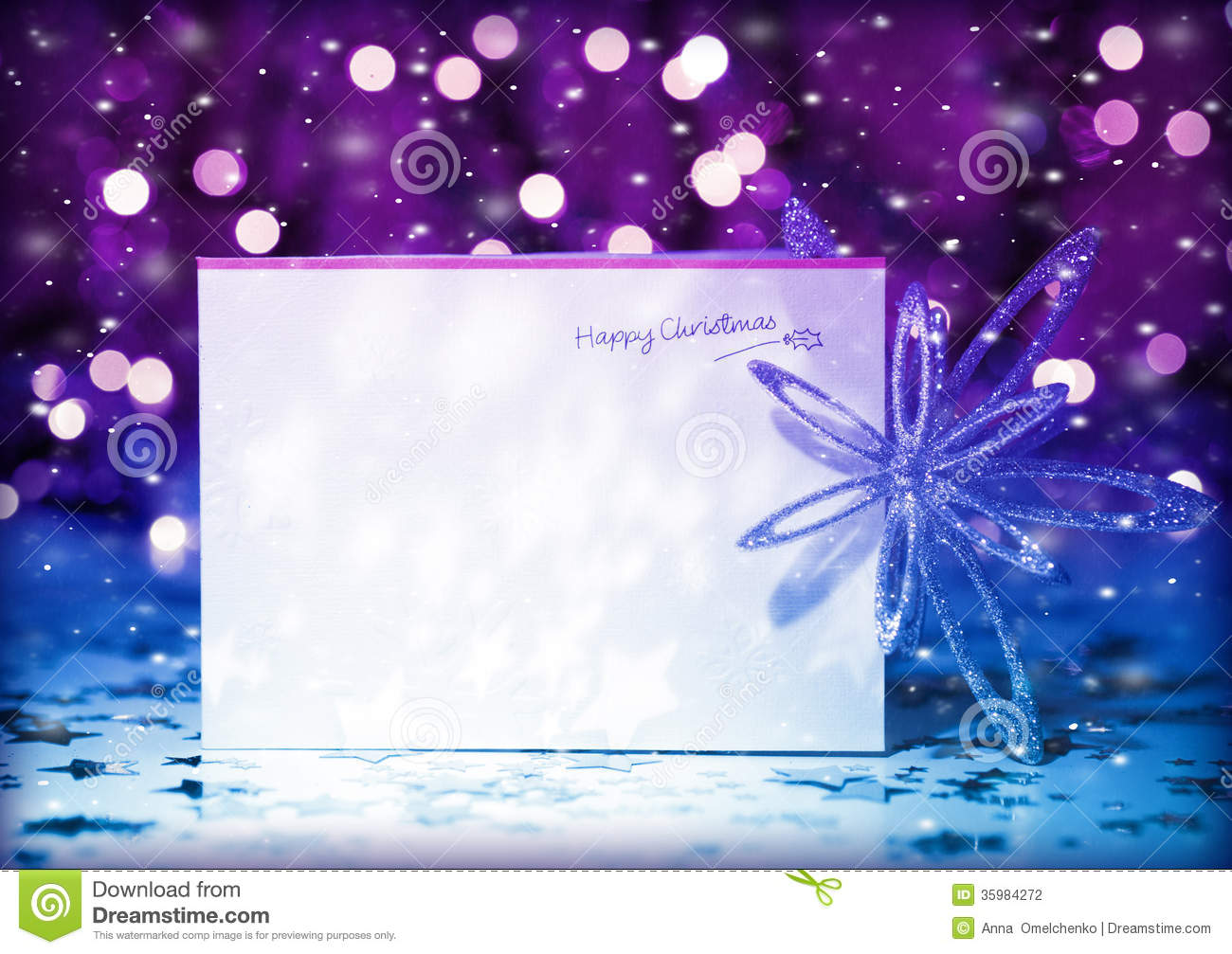 lights, decorated with shiny snowflake, invitation to the party