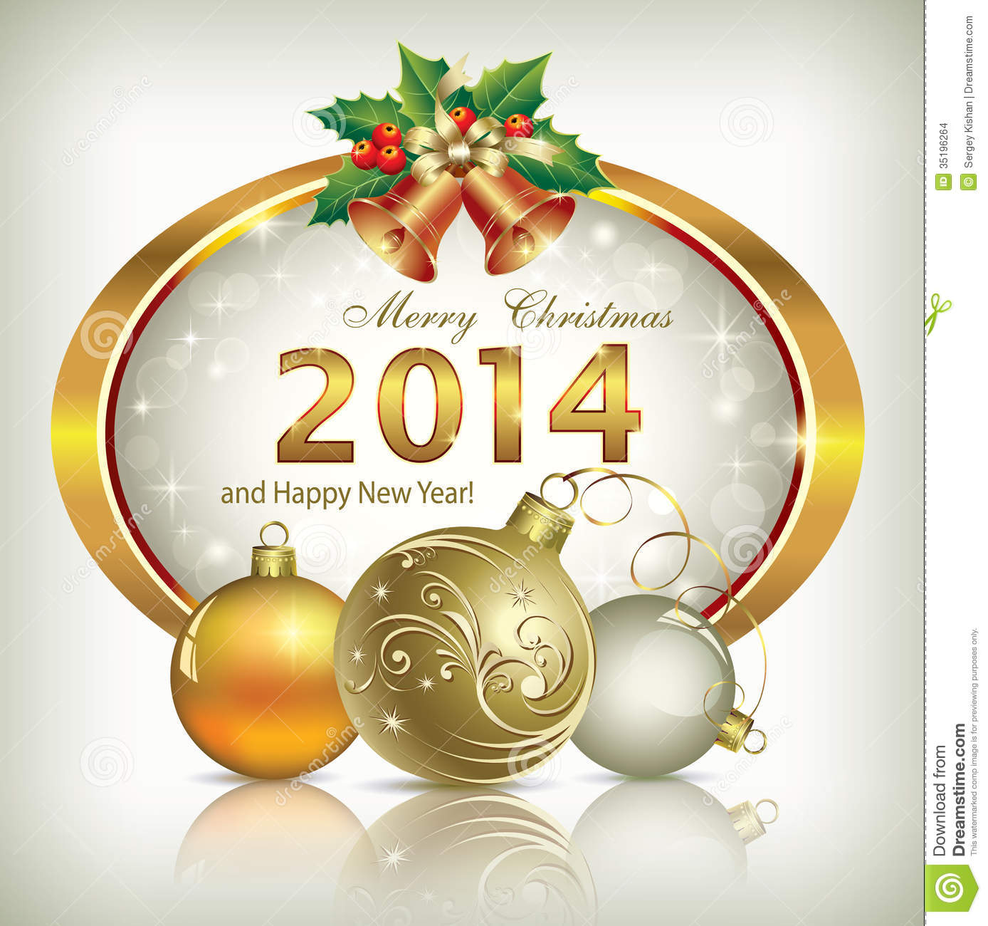 Christmas greeting card 2014 stock vector illustration of christmas greeting card 2014 m4hsunfo